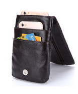 Baellerry® Genuine Leather Wallet Practical Hanging Belt Phone Holder Po... - $21.70