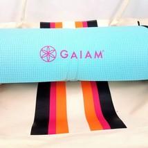 Gaiam Yoga Mat Reversible Blue Mauve Canvas Carry Tote Bag Athletic Gym - $462,72 MXN
