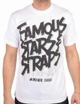 Famoso Stars Y Correas Acero Blanco Fsas FMS Travis Barker Blink 182 T-Shirt Nwt
