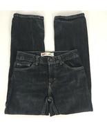 Levi's Boys Jeans Size 14R Straight Leg 505 Dark Wash 27 Inch 100% cotton  - $18.29