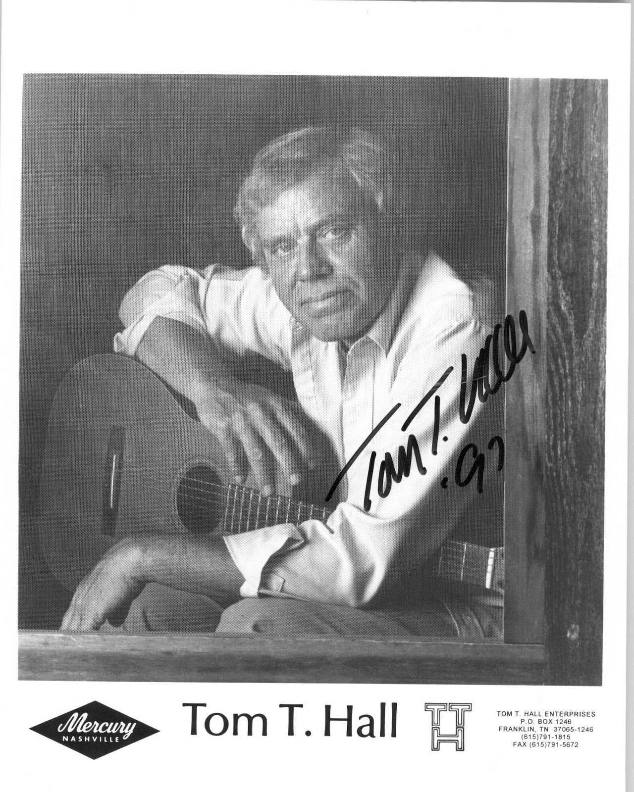 Primary image for Tom T. Hall Signed Autographed Glossy 8x10 Photo