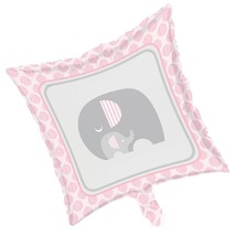 Little Peanut Girl Metallic Foil Balloon Pink Elephant Baby Shower - $4.39