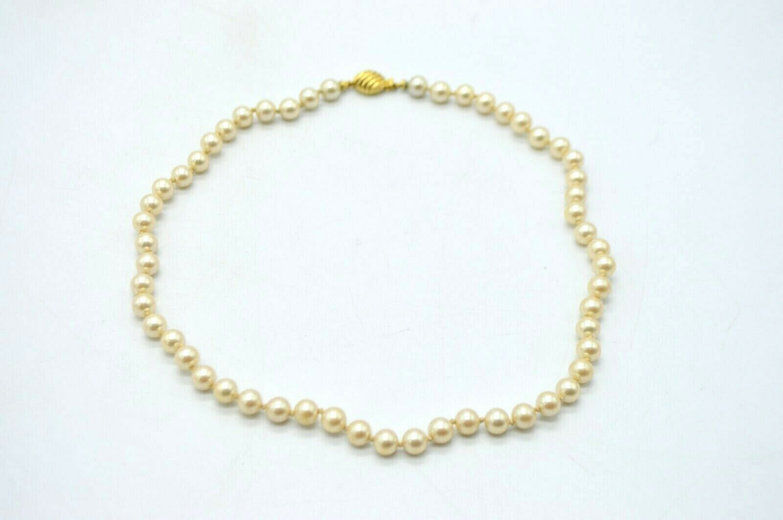 Primary image for Marvella Gold Tone Faux Pearl Dainty Bead Choker Vintage Necklace