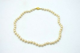 Marvella Gold Tone Faux Pearl Dainty Bead Choker Vintage Necklace - $19.79