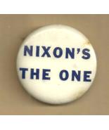 NIXON'S THE ONE - PRESIDENT RICHARD NIXON & WATERGATE - RARE 1974 BUTTON UP PIN - $69.98