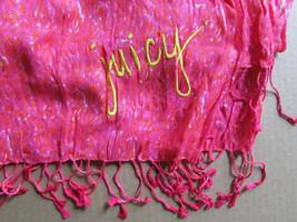 Juicy Couture Scarf Soft Tassel Geometric Pink Splash $78 - $37.62