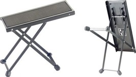 Stagg Model FOS-B1 BK Black Metal Adjustable Foot Rest for Guitar Players - $10.95