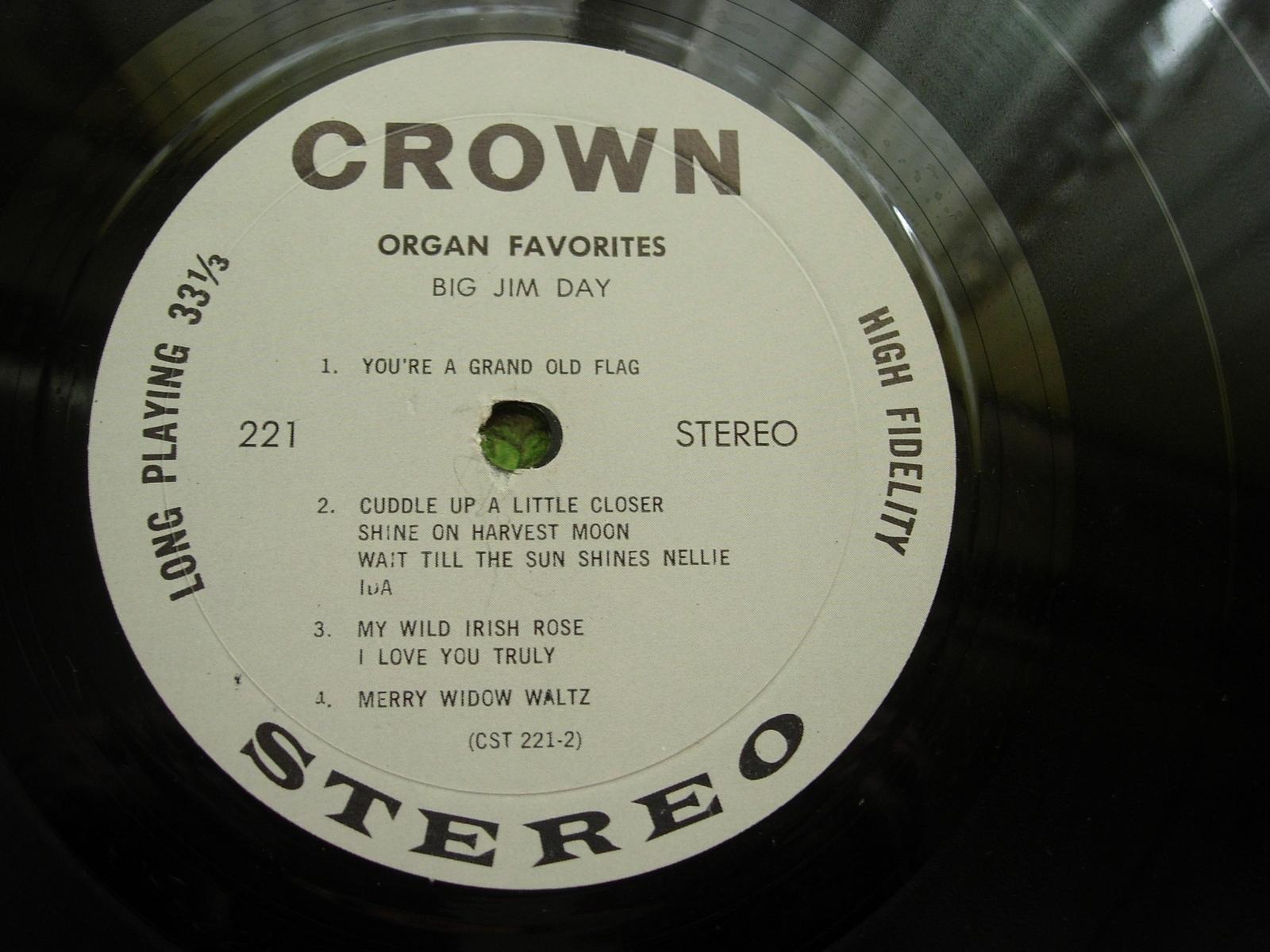 Jim Day - Organ Favorites - Crown Records CST 221