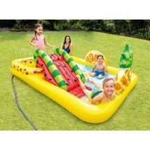 INTEX FUN N FRUITY INFLATABLE PLAY CENTER WITH WATER SLIDE NEW IN BOX - $74.99