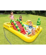 INTEX FUN N FRUITY INFLATABLE PLAY CENTER WITH WATER SLIDE NEW IN BOX - $79.99