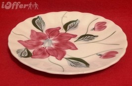 "Blue Ridge Southern POTTERY-- Poinsettia Salad Plate 7 1/4"" - $7.95"