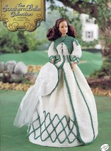 Southern Belle Decoration Day Outfit Fits Barbie Annie's Crochet Pattern Leaflet - $7.17