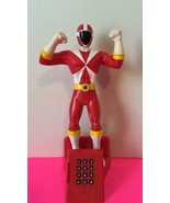 2000 Planet Toy Inc Power Rangers Red Quantum Ranger Time Force Talking ... - $37.40