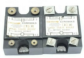 LOT OF 2 CRYDOM D2402 SOLID STATE RELAYS 240 VAC 2.5 AMPS