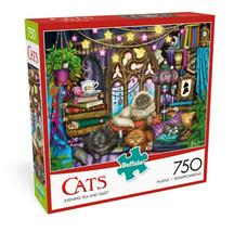 Buffalo Games - Cats Collection - Evening Tea & Tales - 750 Piece Jigsaw... - $28.99