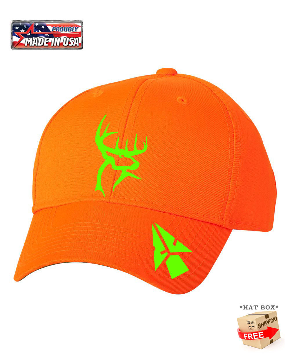 Primary image for BLAZE ORANGE HUNTING BOW DEER BUCK Camouflage HAT *FREE SHIPPING in BOX*