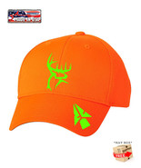 BLAZE ORANGE HUNTING BOW DEER BUCK Camouflage HAT *FREE SHIPPING in BOX* - $15.99