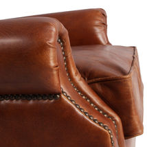 MarquessLife 100%Genunie Leather Handmade Tufted High Wing Back Sofa Armchair image 4