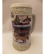 "1999 Miller Brewing Holiday Stein ""December Dusk"" Wolves- Collector piec... - $6.68"