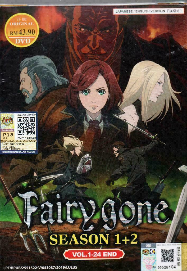 Fairy Gone (Season 1+2) DVD (Vol.1-24 end) with English Dubbed