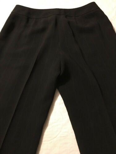 Ann Taylor Women's Pants Black Pinstripe Fully Lined Dress Pants Size 10 X 30 image 7