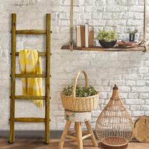 Wooden Blanket Ladder   Handcrafted, Rustic, Decorative Quilt Rack 5ft - $129.95