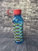 Starbucks 25 oz Striped Plastic Water Bottle Blue Red Yellow Cup Twist Cap - $13.87