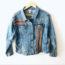 Westbound XL Blue Denim Jacket Boho Embellished - $24.03