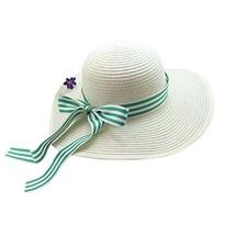 Beach Hat UV Girls Summer Sunscreen Large Brimmed Hat Child Children Folding image 2