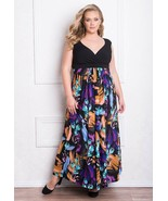 Sexy GIGI Designs Black Floral Plus Size Glamorous Valencia Maxi Party D... - $134.99