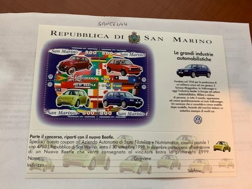 Primary image for San Marino Volkswagen s/s 1997 mnh