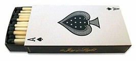 The Joy of Light Designer Matches Ace of Spades Playing Card Embossed Matte 4... - $10.99