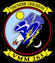 USMC VMM-263 Thunder Chickens Sticker 4'' - $9.89