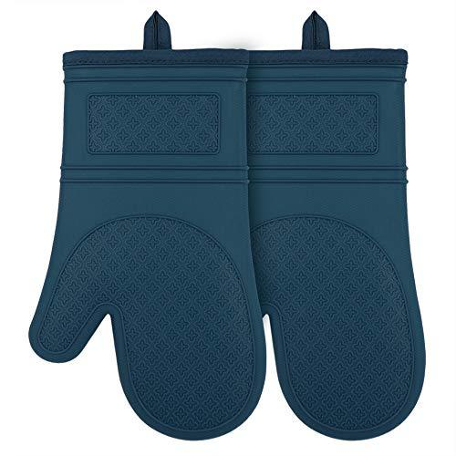 Silicone Oven Mitts Cook Mittens Heat Resistant Pot Holders Comfort Safety Kitch