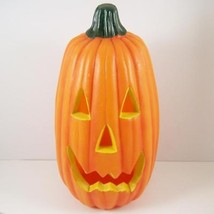 "Tall Thin Plastic Blow Mold Lighted Pumpkin Jack O Lantern 12"" Halloween... - £28.87 GBP"