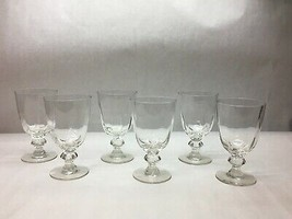 Set of 7 HAND Crafted CLEAR Cordial GLASSES Leveled BALL Stem DESIGN Dif... - $60.58