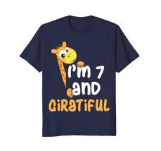 Cute 7th Birthday Giraffe T-Shirt for B-day Party - $17.99+
