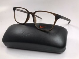 New NIKE 7126 205 Matte Brown Eyeglasses 50mm with NIKE Case - $64.30