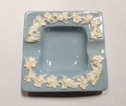 Wedgwood Queensware Grape Cream on Lavender (Blue) Square Ashtray Pin Di... - $9.88