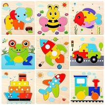 Wooden Jigsaw Puzzles for Toddlers Age 2 3 4 5 Year Old  Preschool Anima... - $16.73