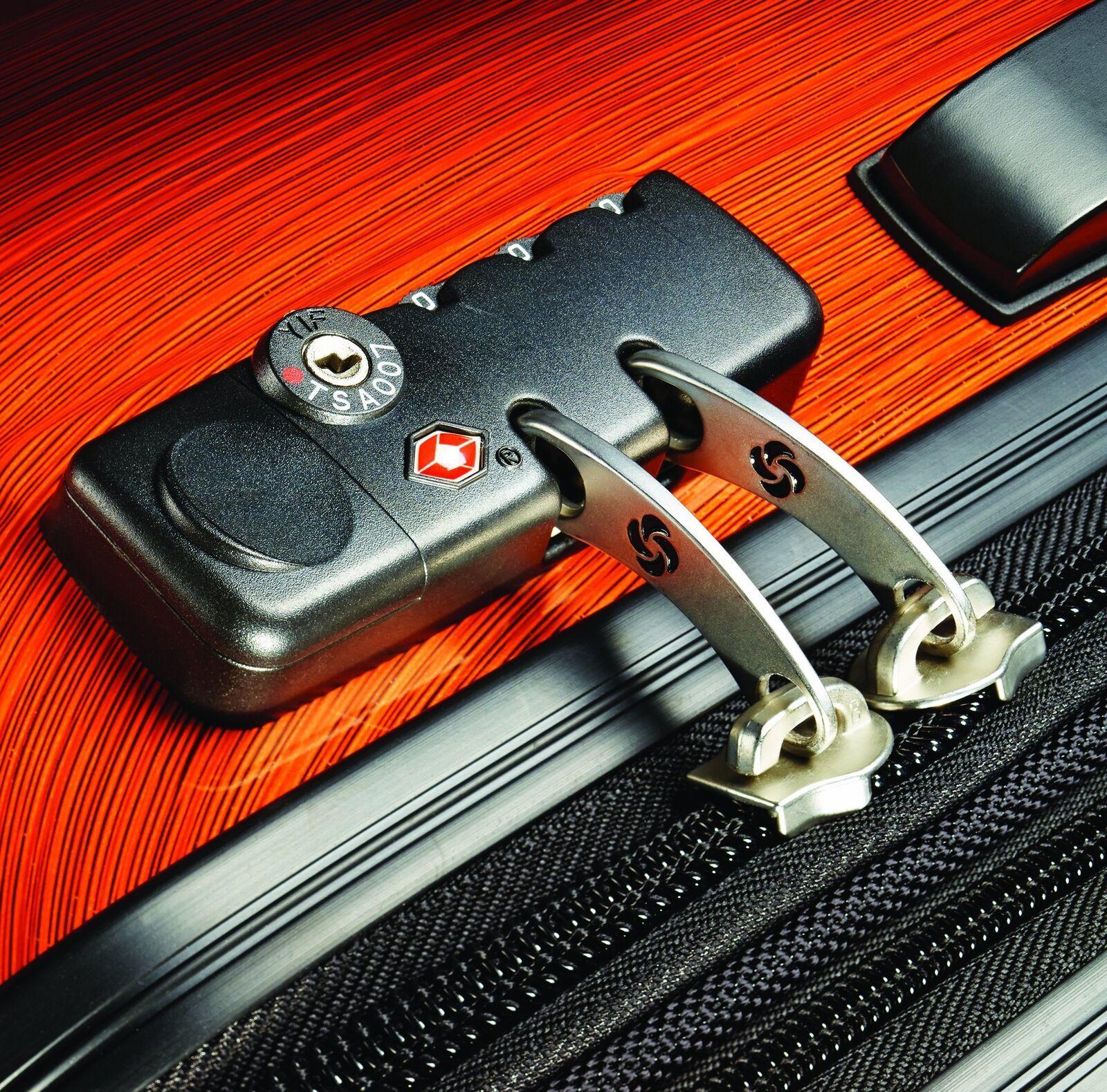 """28"""" Expandable Spinner Luggage Polycarbonate Rolling Suitcase TSA Lock Orange image 4"""