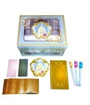 Disney Beauty & the Beast Glittery Glam Mosaic Jewelry Box Gel Pens & No... - $23.27