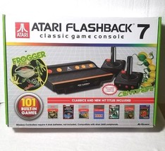 ATARI FLASHBACK  7 CLASSIC GAME CONSOLE 101 BUILT IN VINTAGE GAMES FROGGER  - $39.50
