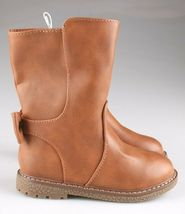 Cat & Jack Girls Toddler Brown Cognac Hermione Tall Fashion Bow Riding Boots image 5