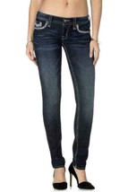 Rock Revival Women's Premium Skinny Dark Denim Jeans Woven Pants Isiah S