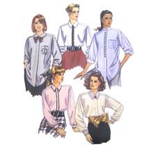 Vtg McCalls 4484 Misses Long Sleeve Shirt Mandarin Peter Pan Collar 10-1... - $6.95