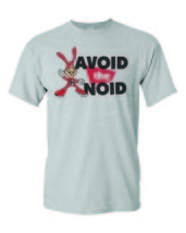 Avoid the Noid T-shirt 80's retro funny novelty cotton blend heather grey tee image 2