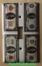 Old US USA 100 Dollars money Bill Light Switch Outlet Wall Cover Plate Decor image 1