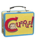 Curious George Animation Art and Name Large Tin Tote Lunchbox, NEW UNUSED - £13.62 GBP