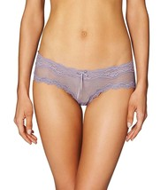 Heidi Klum New Mesh With Lace Hipster Brief, Purple Ash,XS - $10.89